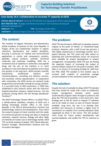 Good-Practice: Collaboration to increase TT capacity atIOCB