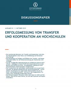 Erfolgsmessung von Transfer und Kooperationen an Hochschulen