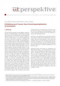 Profilbildung durch Transfer: Neue Entwicklungsmöglichkeiten für Hochschulen