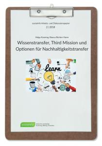 Wissenstransfer, Third Mission und Optionen für Nachhaltigkeitstransfer