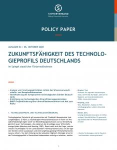 Zukunftsfähigkeit des Technologieprofils Deutschlands