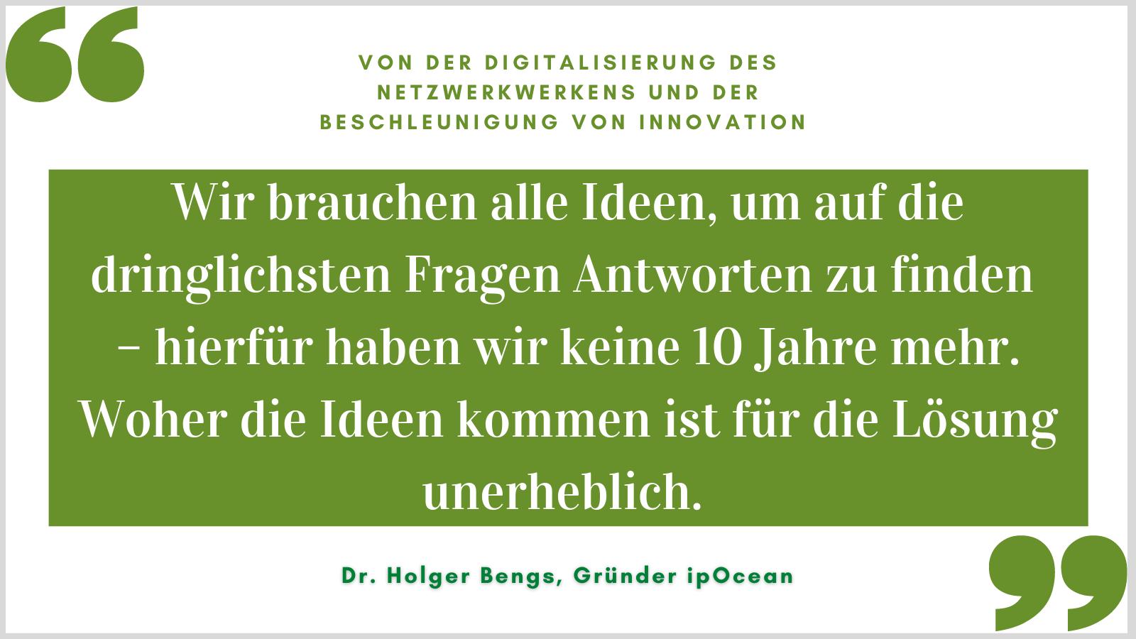 Von der Digitalisierung des Netzwerkwerkens und der Beschleunigung von Innovation